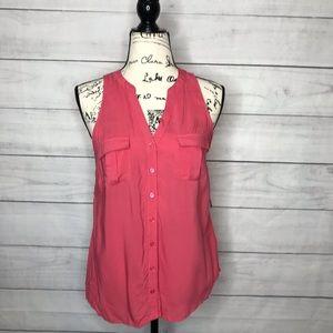 3/$15 NWT Merona sleeveless button down shirt S